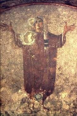 Orante, Roma, Catacumbas de Priscila, séc. III d.C.